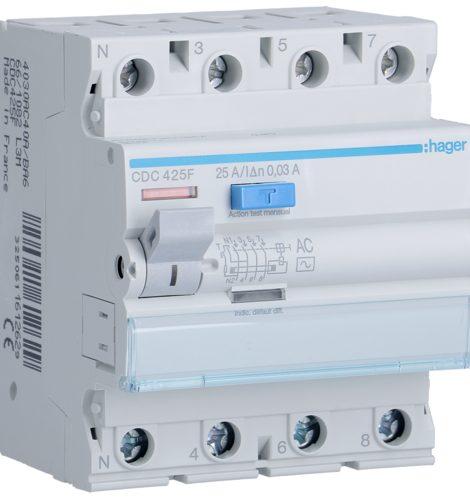 interrupteur différentiel 30ma 4 poles