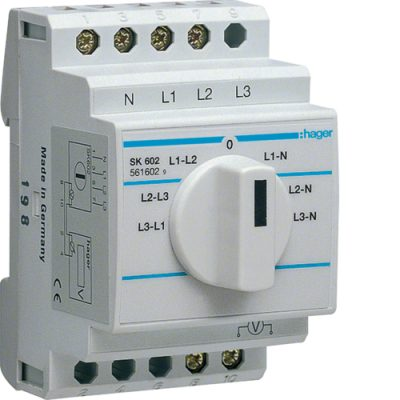 Commutateur voltmètre