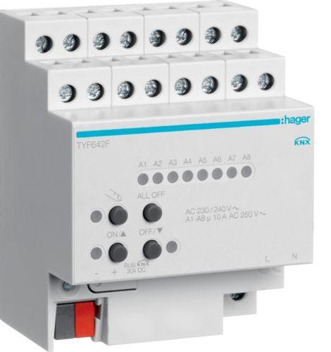 module de sortie pour ventilo-convecteur hager knx